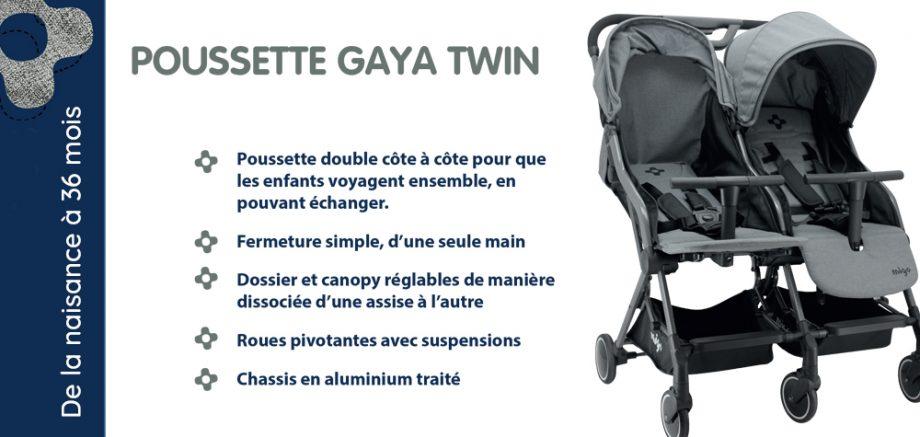poussette gaya twin