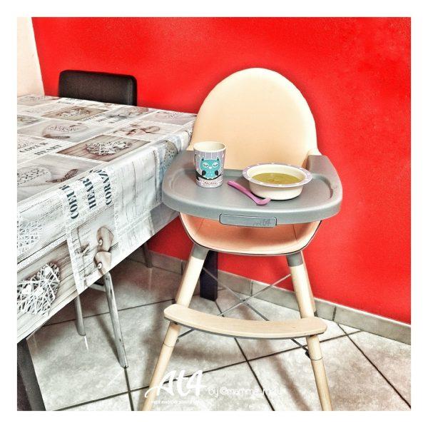 chaise haute at4 bois